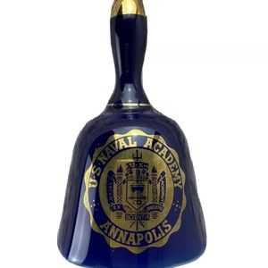 Rare Vintage US Naval Academy Blue Glass Bell